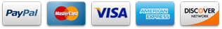 Accepted Credit Cards: PayPal MasterCard Visa AmericanExpress DiscoverCard as form of payment